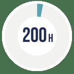 200 Stunden